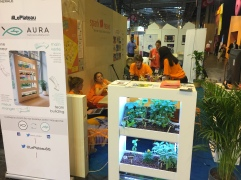 Aura, indoor aquaponics cultivation system