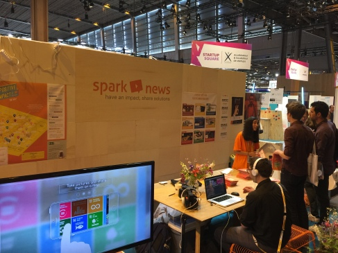 Mapting on the Sparknews Booth